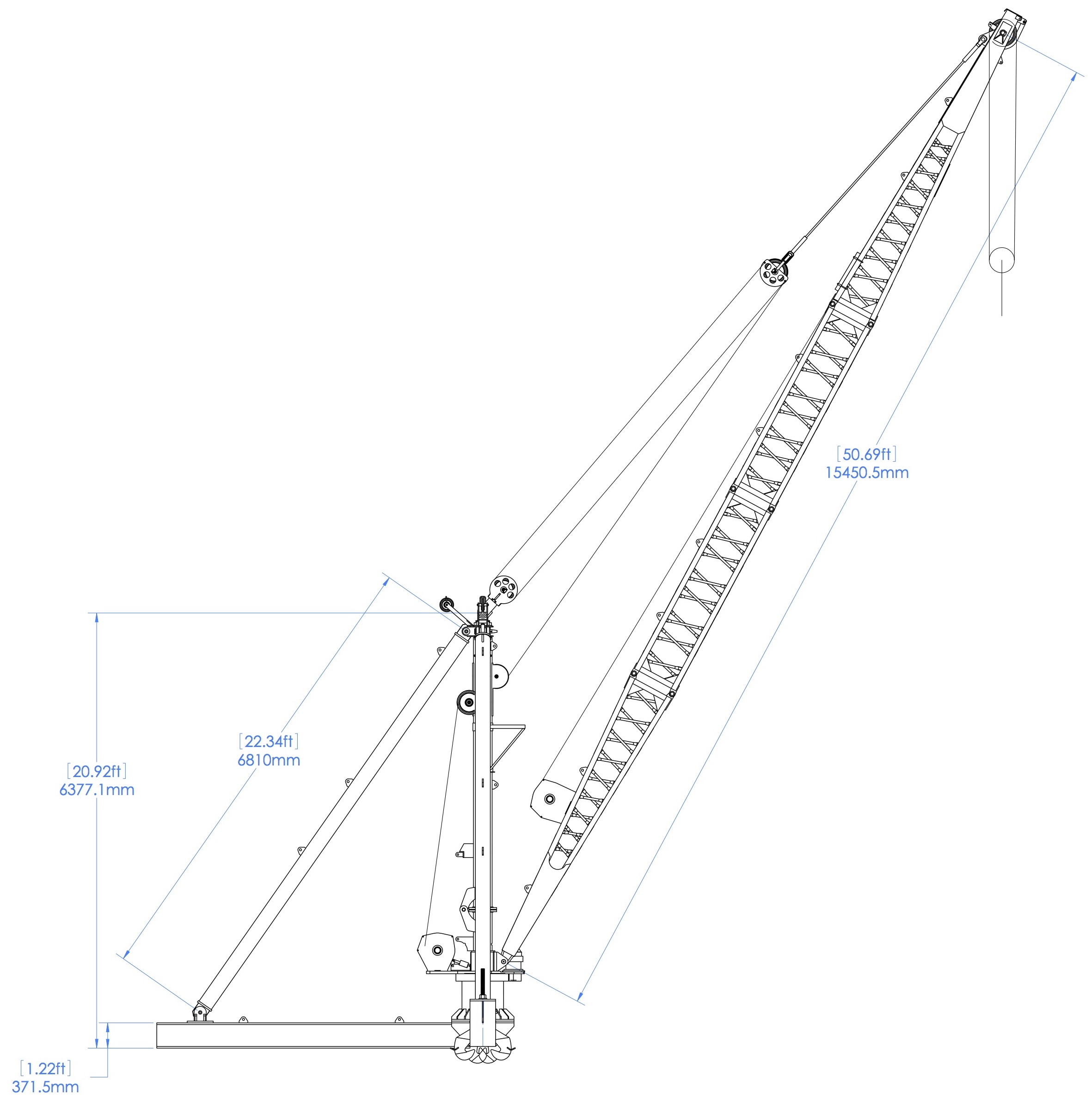 Portable Crane Offshore Platforms TC05